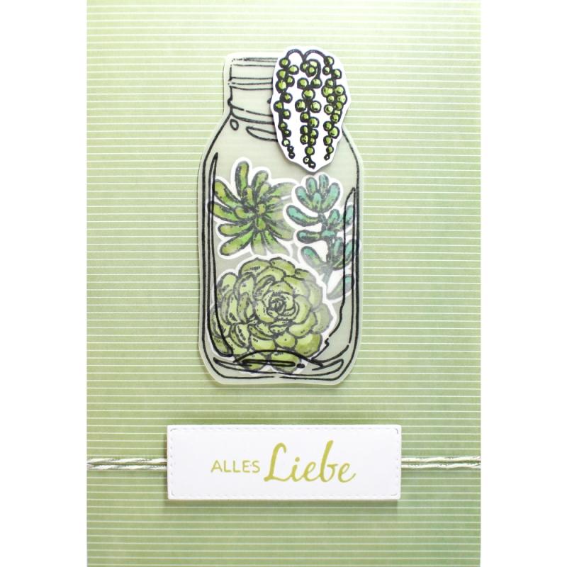 "Karte ""Alles Liebe"" Succulente"