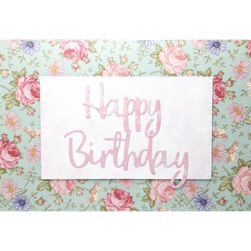 "Karte ""Happy Birthday"" floral"