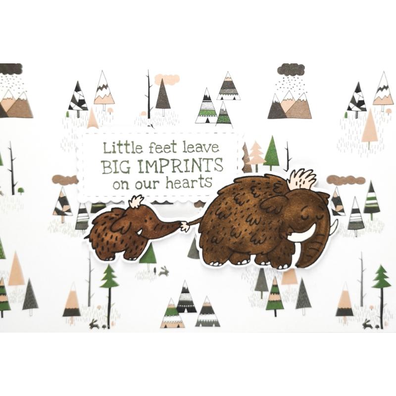 "Karte ""Little feet, big..."