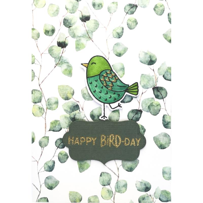 "Karte ""Happy Bird-Day"""