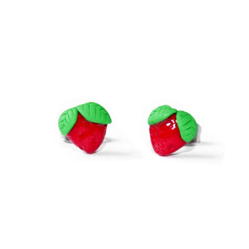"""Ohrstecker """"Erdbeeren"""""""