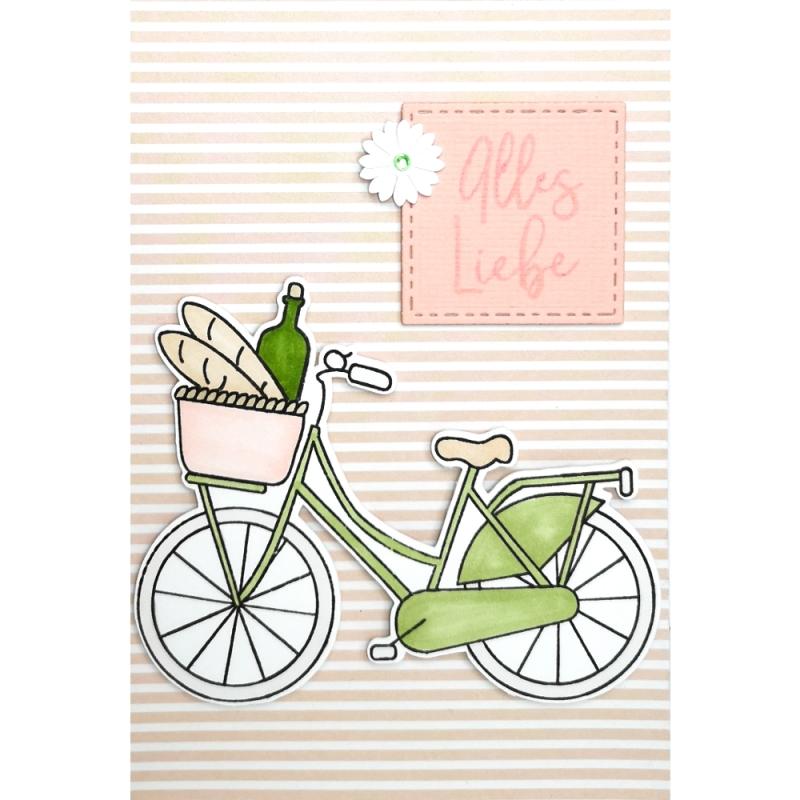 "Karte ""Alles Liebe"" Fahrrad"