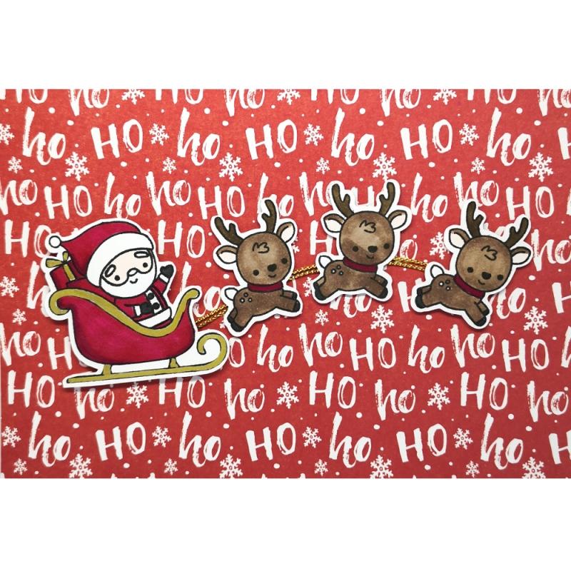 """Karte """"Weihnachtsmann mit..."""