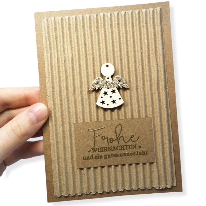 """Karte """"Frohe Weihnachten""""..."""