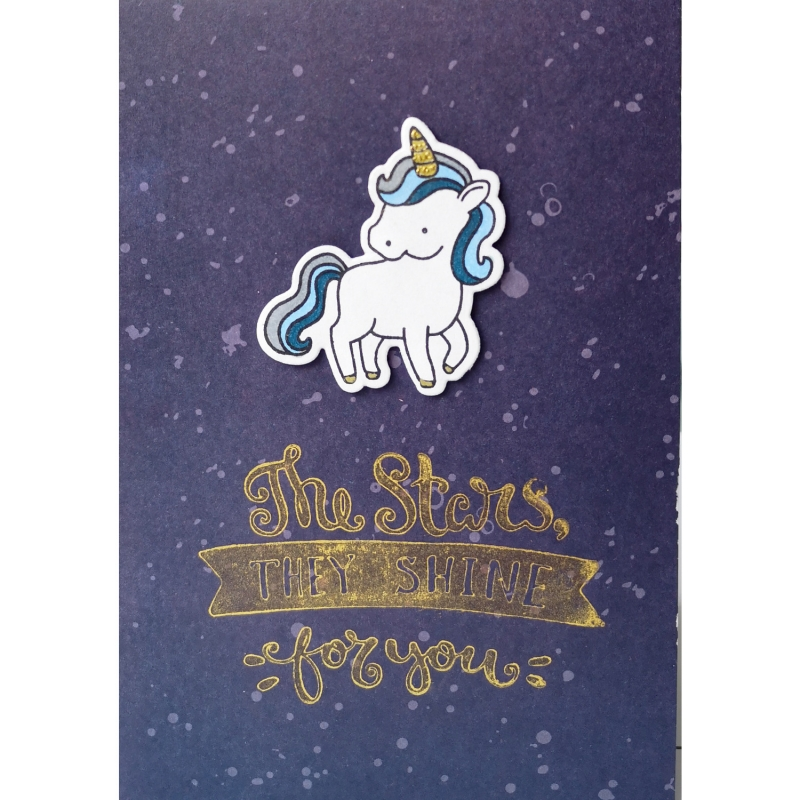 "Karte ""Stars shine for you"""
