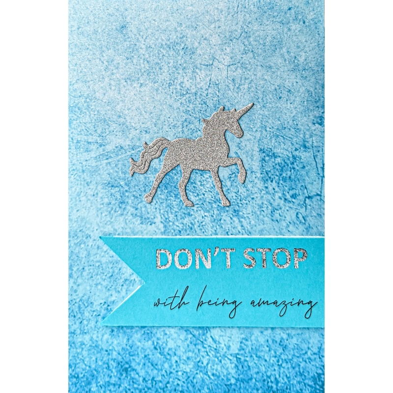"Karte ""Being amazing Blau"""