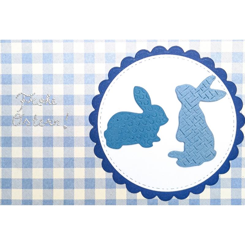"""Karte """"Frohe Ostern in Blau"""""""