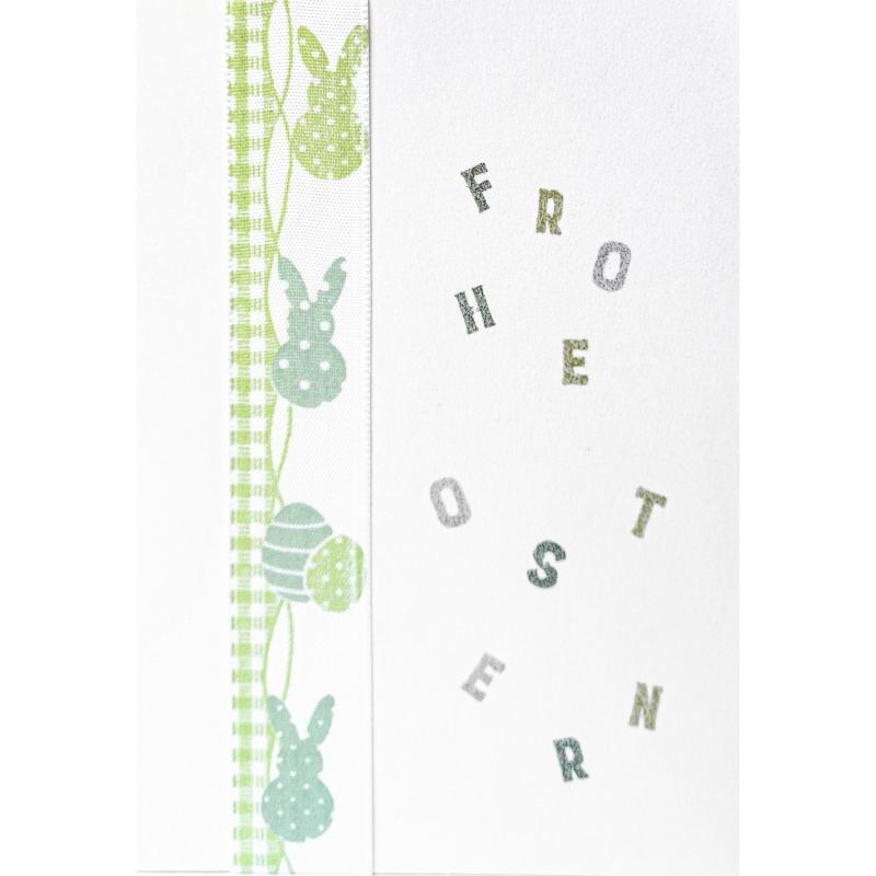 "Karte ""Frohe Ostern in Grün"""