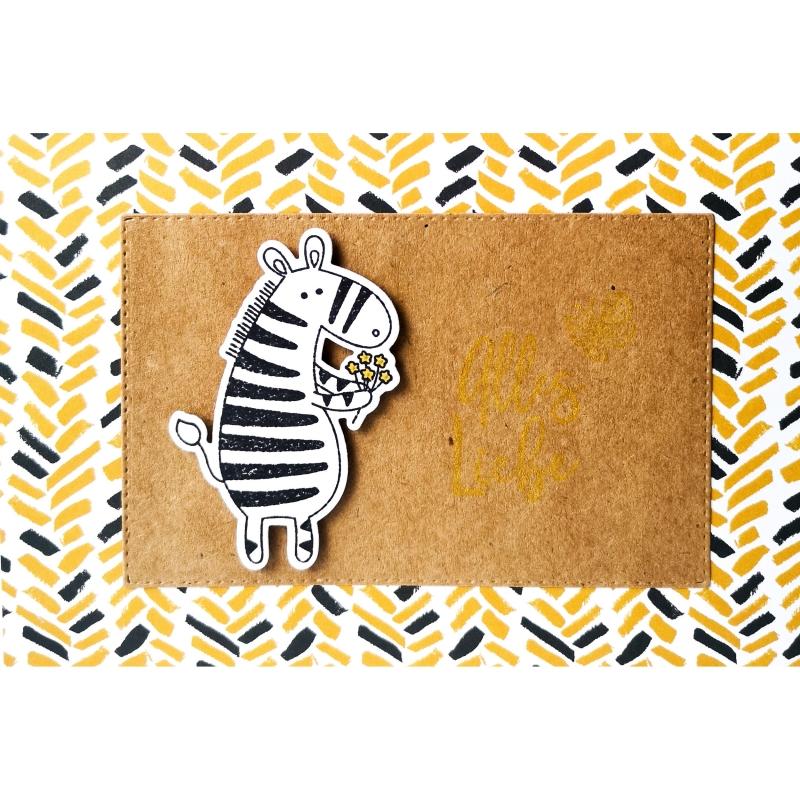 """Karte """"Alles Liebe vom Zebra"""""""