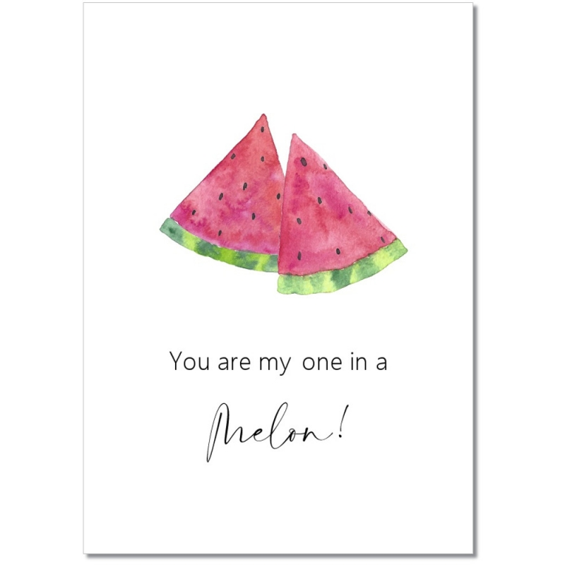 "Postkarte ""My one in a Melon"""