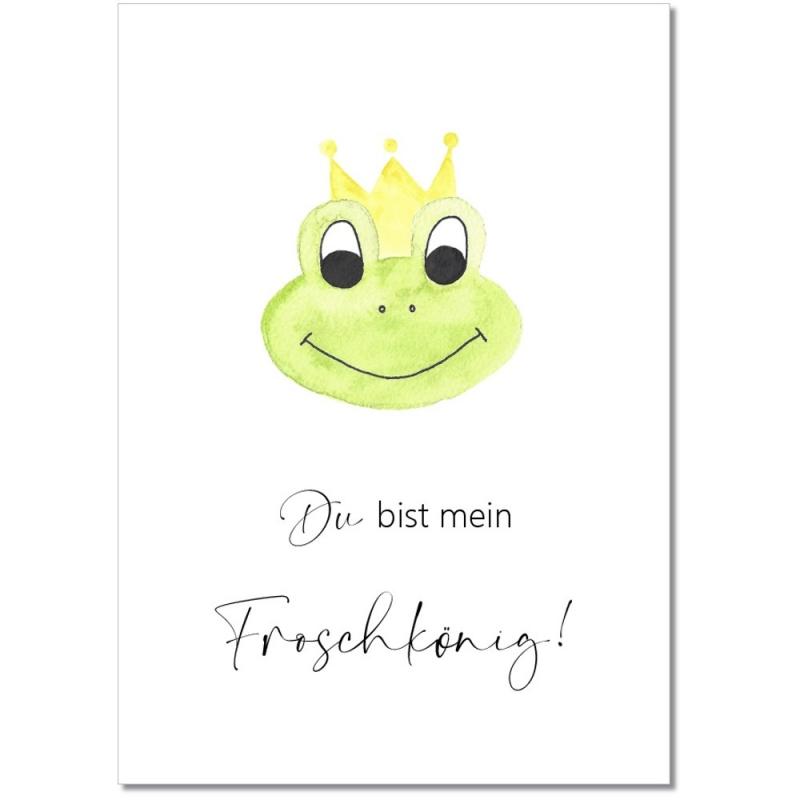 """Postkarte """"Mein Froschkönig"""""""