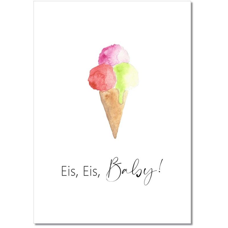 "Postkarte ""Eis Eis Baby"""