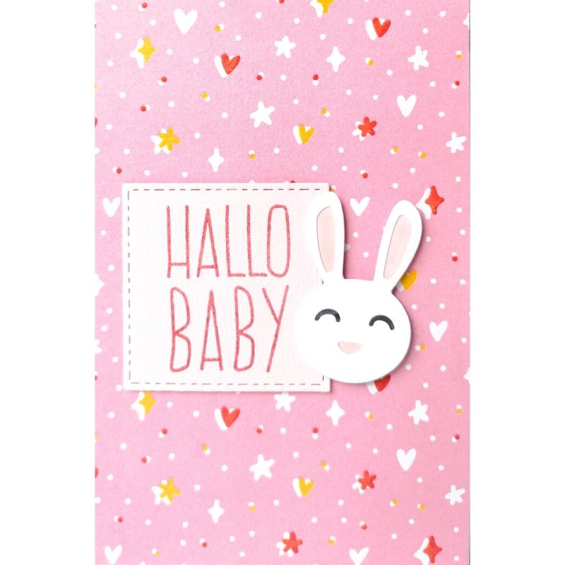 "Karte ""Hallo Baby"""