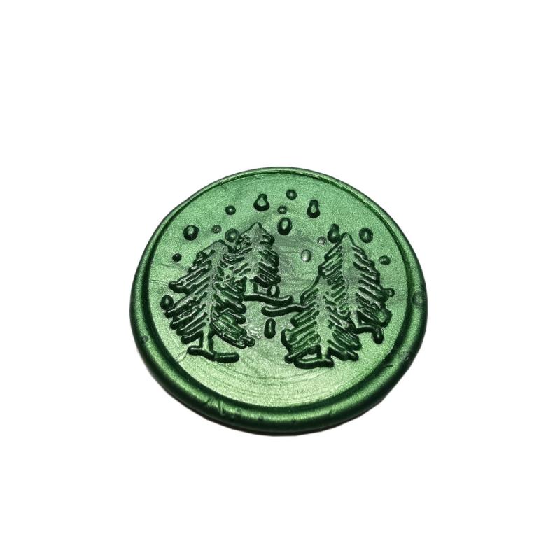 """Tannenbäume"" in Metallic Waldgrün"