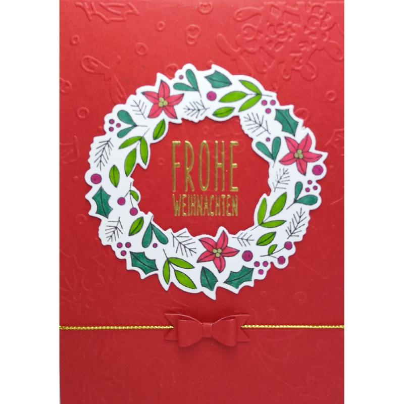 """Karte """"Weihnachtskranz"""""""