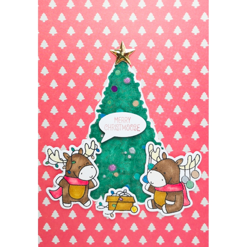 "Karte ""Merry Christmoose"""