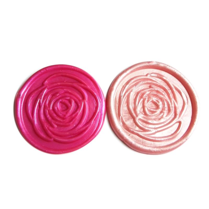 """""""Simple Rose"""" in Rotviolett metallic und Hellrosa metallic"""