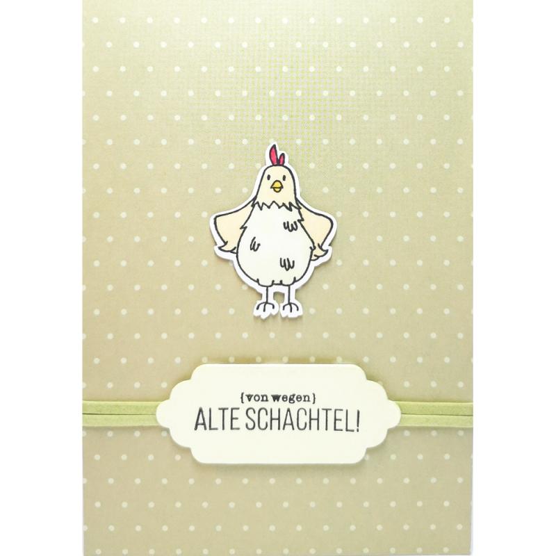 """Karte """"Alte Schachtel"""""""